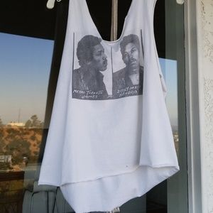 Jimmy Hendrix distressed mugshot tank
